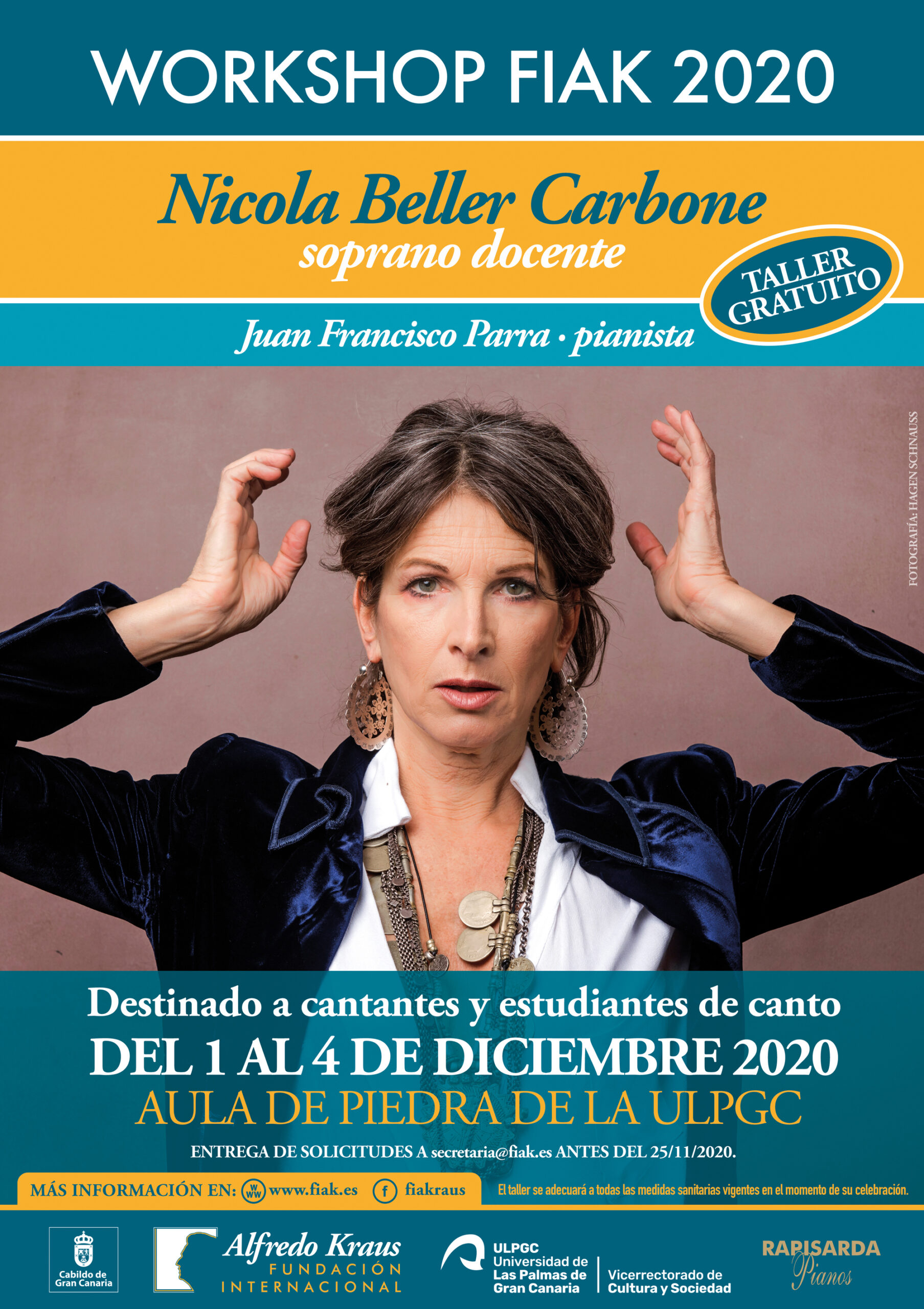 La Fundación Internacional Alfredo Kraus organiza la tercera edición del 'Workshop Fiak' a cargo de la soprano Nicola Beller Carbone