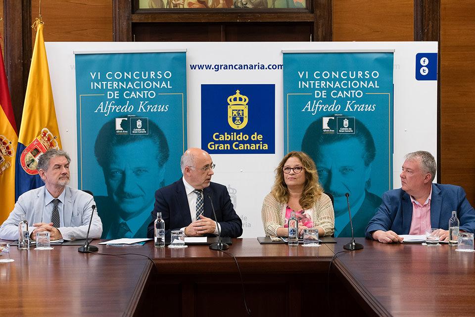 La Fundación Internacional Alfredo Kraus y el Cabildo de Gran Canaria recuperan el Concurso de Canto que impulsó el célebre tenor para apoyar a los jóvenes cantantes líricos
