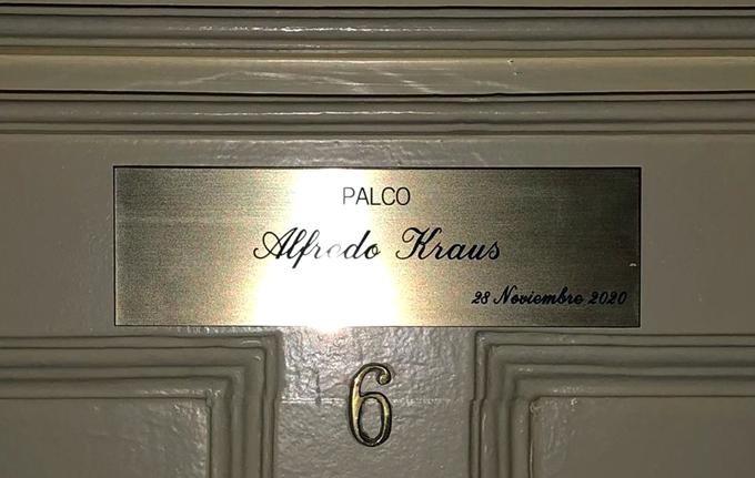 La FIAK agradece el reconocimiento a Alfredo Kraus del Teatro de la Zarzuela con la dedicación de un palco que lleva su nombre
