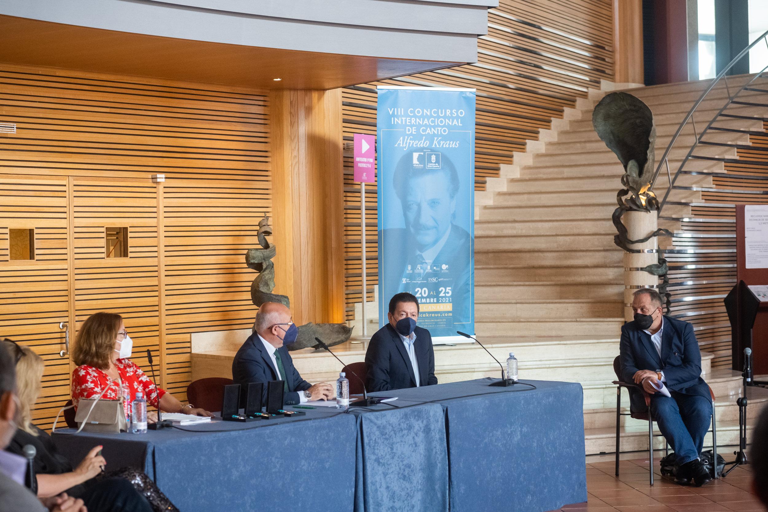 El jurado que preside el tenor mexicano Francisco Araiza dará a conocer a los premiados del VIII Concurso Internacional de Canto Alfredo Kraus en una gala con público en Gran Canaria