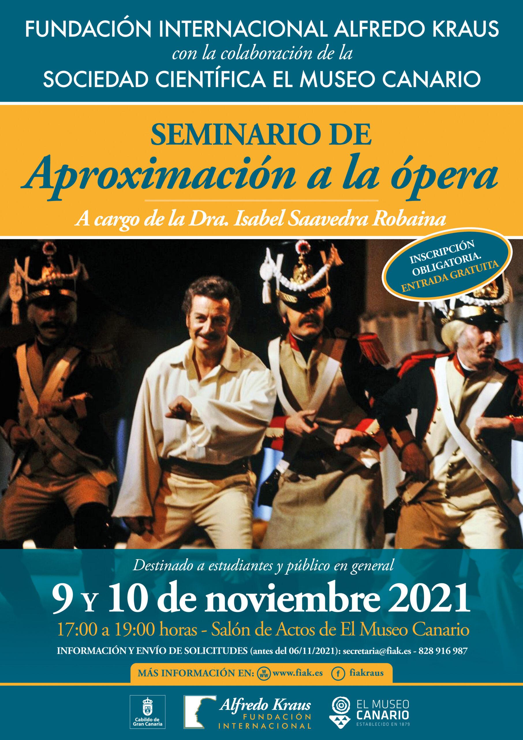 La FIAK y El Museo Canario organizan un seminario sobre la historia de la ópera con el objetivo de atraer nuevos públicos
